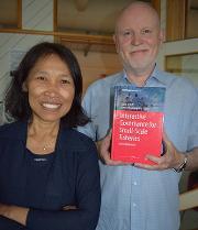 Svein Jentoft (NFH) and Ratana Chuenpagdee (Memorial University) boklansering 2015.jpg