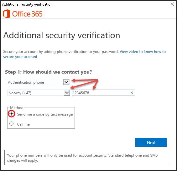 Komme i gang med tofaktor-autentisering via Outlook Web App (SMS) | UiT