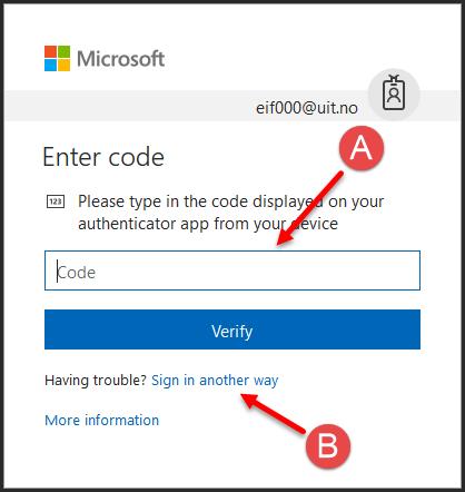 Office 365 - Tofaktor-autentisering | UiT
