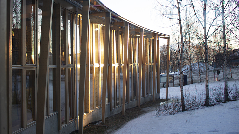 Exterior shot of Centre for Peace Studies, Tromsø