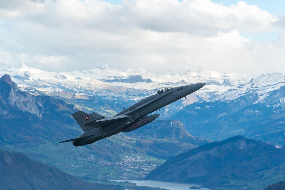 F/A-18 Hornet in flight
