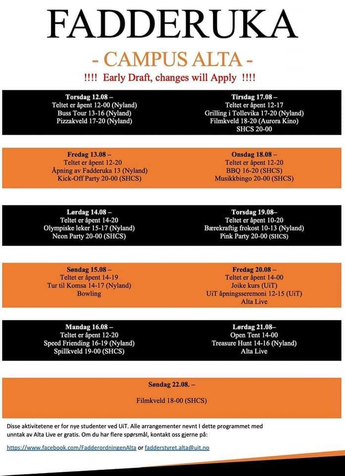 Buddy Week programme